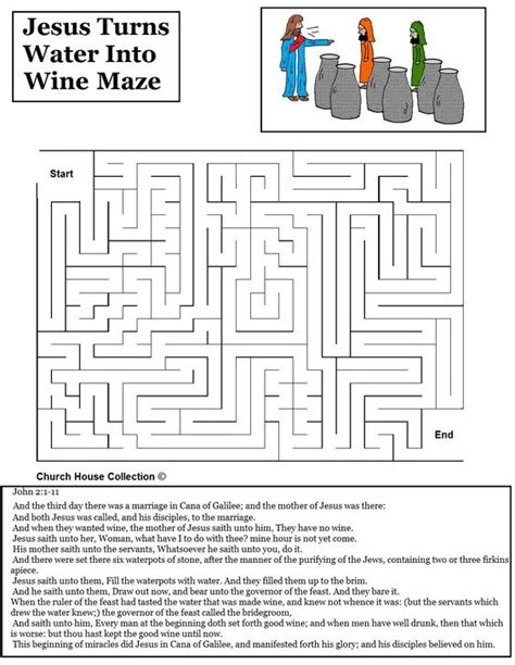 Wedding At Cana Object Lesson by Jesus Turns Water Into Wine Maze Jpg 1020 215 1320 Jesus