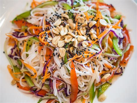 rice noodle salad vegetarian survival guide to cambodia