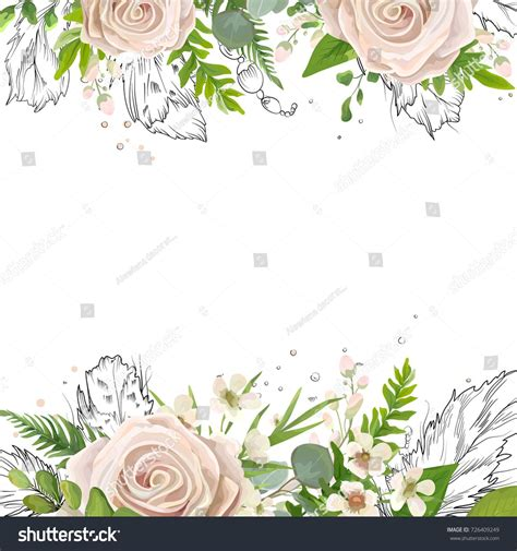 vector floral card watercolor card design floral