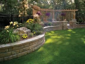 backyard retaining wall bayfield retaining wall by basalite other metro by