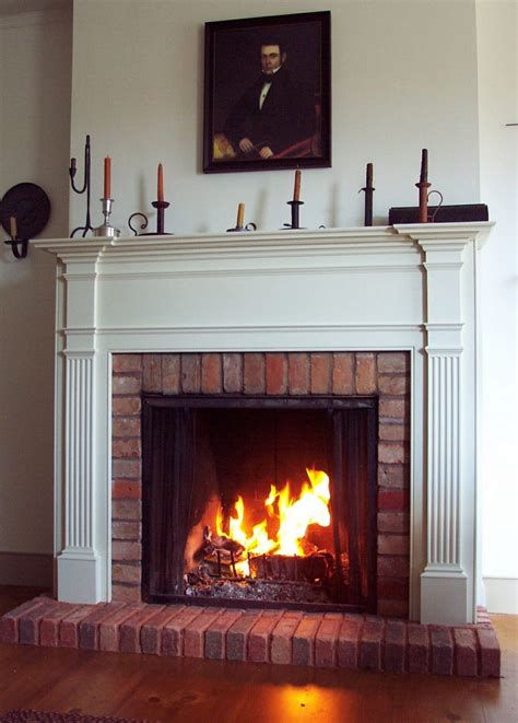 Fireplace Mantels On Brick interior interior accent ideas using brick fireplace
