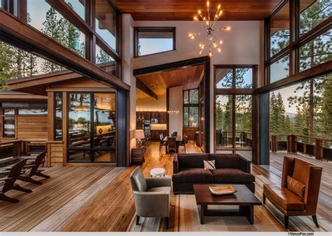 mountain homes interiors mountain modern lodge transitional living room san