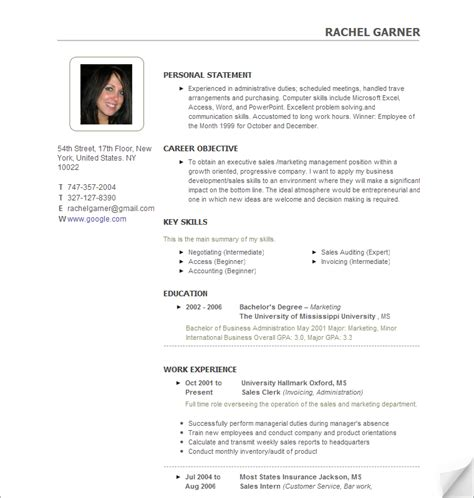 resume with photo of candidate college recruiter