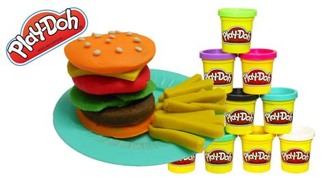 play doh cuisine play doh food hamburger playdoh traditional