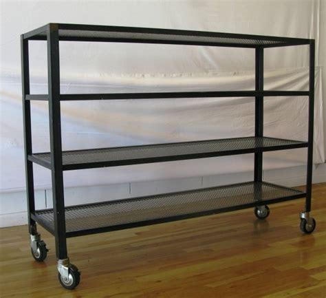 shelves on wheels metal shelving on wheels shelving ideas