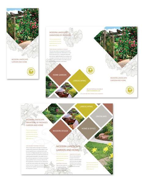 landscape brochure template modern landscaping tri fold brochure template http www