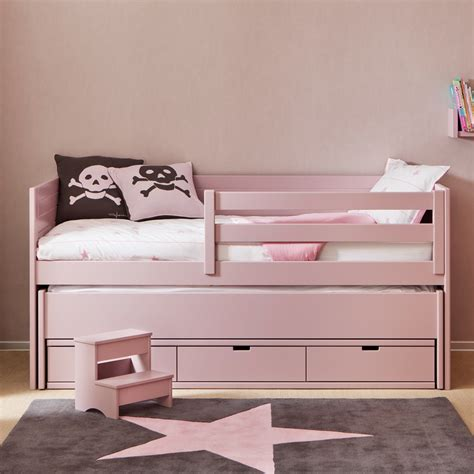 kids cometa bed with trundle bed drawers girls beds