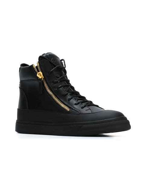 giuseppe high top sneakers giuseppe zanotti leather high top sneakers in black for