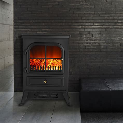 log burning effect 1850w electric fireplace stove