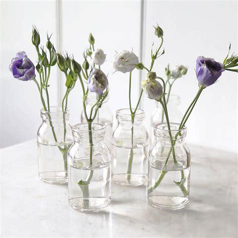 Glass Milk Bottle Vase by Mini Milk Bottle Vase By Lilly Notonthehighstreet