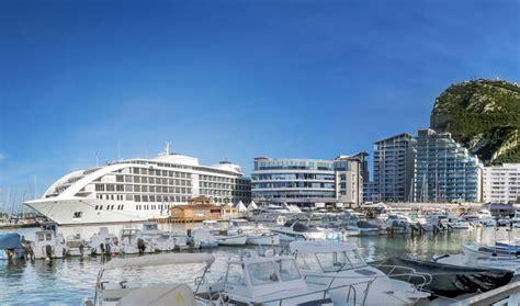 floating boat hotel gibraltar sunborn yacht hotel arrives at ocean village gibraltar