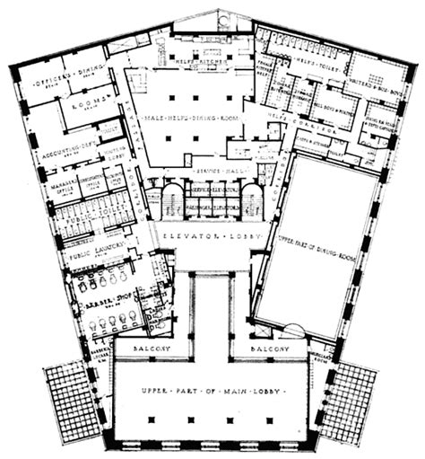 mezzanine floor plan the statler hotel mezzanine floor plan