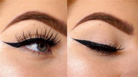 tutorial eyeliner youtube winged eyeliner tutorial for hooded eyes youtube
