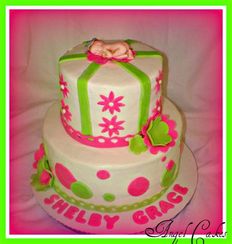 Pink And Lime Green Baby Shower by Pink And Lime Green Baby Shower Cake Decorating