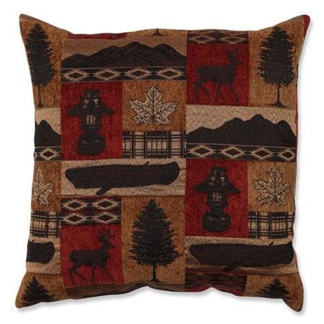 Lodge Throw Pillows by Redstone Lodge Brown And 18 Inch Throw Pillow Pillow