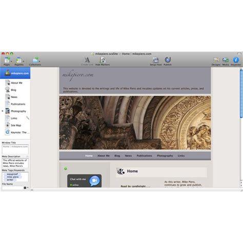Sandvox Pro Website Design Software Review Sandvox Pro Templates