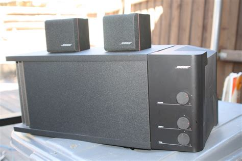 Speaker Bose Acoustimass bose acoustimass 3 series iii speaker system powered subwoofer 2 cube speakers what s it worth