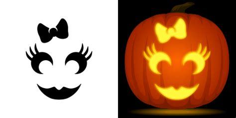 printable pumpkin stencils cute free girly pumpkin stencil