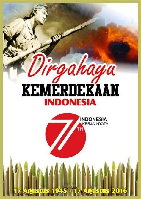 poster dirgahayu kemerdekaan   indonesia