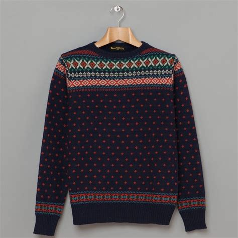 Sweater Unisex Sweater X Navy Terkeren nordic sweater navy sweaters