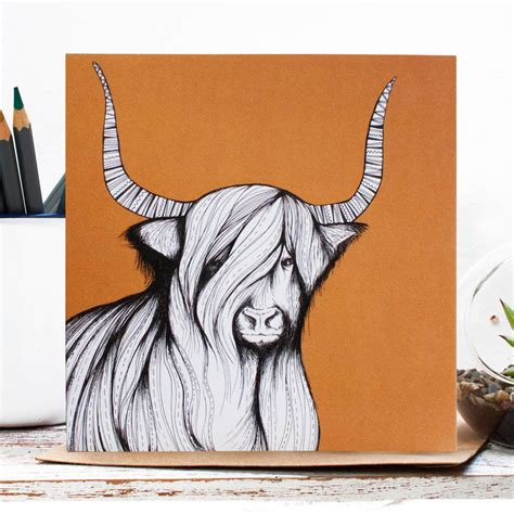 Original Penguin Gift Card - penguin stag bear and highland cow blank gift cards by jessica wilde