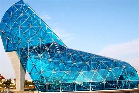 taiwan church shaped like a shoe taiwanese town builds a high heel shoe shaped church to