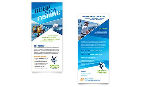 rack card publisher template fishing charter guide brochure template design
