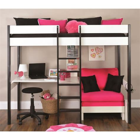 loft bunk bed with futon chair and desk best 25 bunk beds ideas on bunk bed
