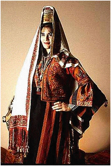 an authentic palestinian dress in all its originality and