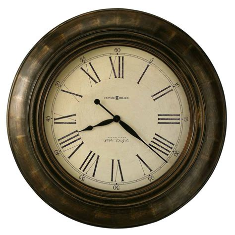oversized wood wall clock
