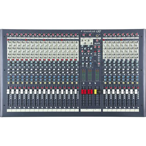 Mixer Soundcraft Spirit Lx7 24 Cnl soundcraft lx7 ii 24 proffesional 24ch mixing desk audio