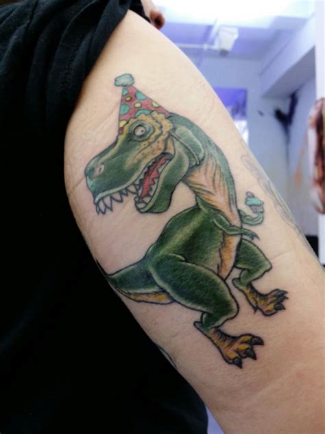 vinny tattoo partysaurus rex by vinny romanelli judge me not by the