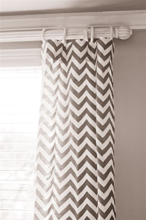 chevron curtains ikea hoot designs dining room makeover