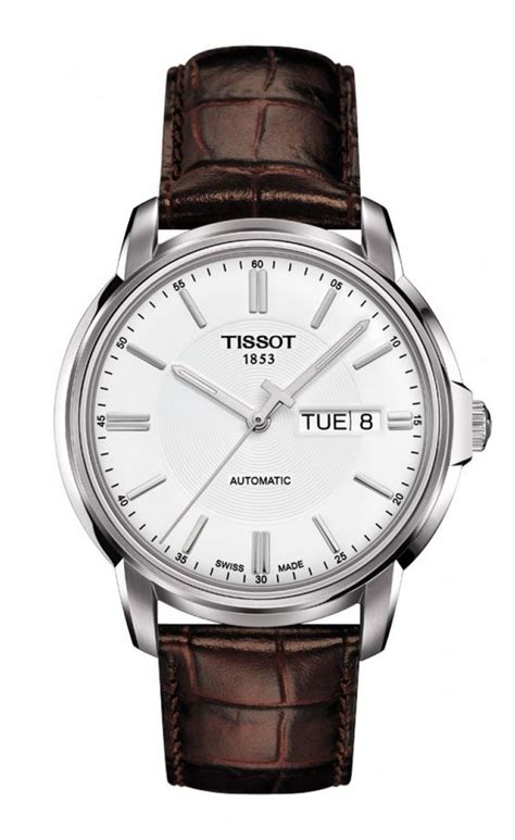 Swiss Army Sa 2215 Leather Silver Black White Ori tissot automatics iii s silver with brown leather time has no secrets here