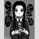 Wednesday Addams Drawing   700 x 900 png 257kB
