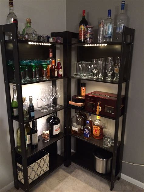 laiva bookcase black brown diy bar bar and apartments