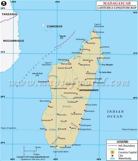 latitude and longitude maps madagascar latitude and longitude map