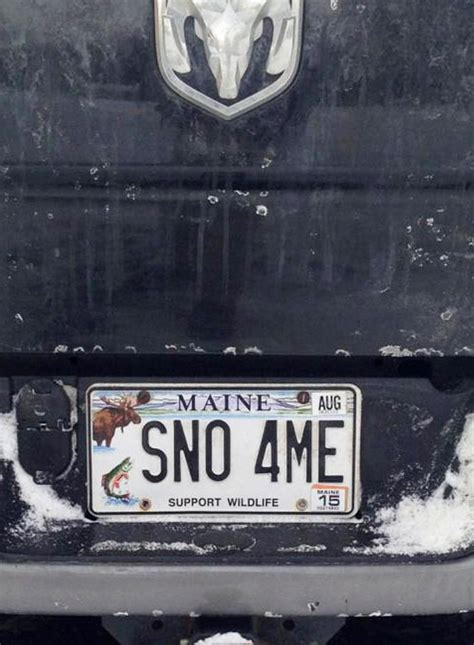 Maine Plumbing License by Snow Or Not Maine Drivers Say It With Their Plates