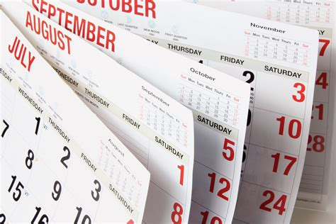 Calendar Pages Notice Day Last Trading Day Trading