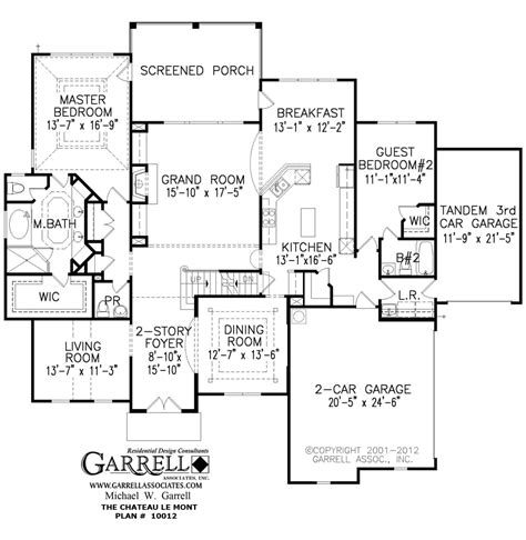 Chateau Floor Plans by Chateau Le Mont House Plan Covered Porch Plans