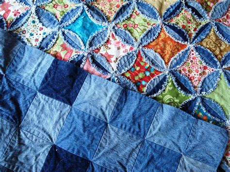 Denim Rag Quilt Pattern self quilting denim circles rag quilt s includes a