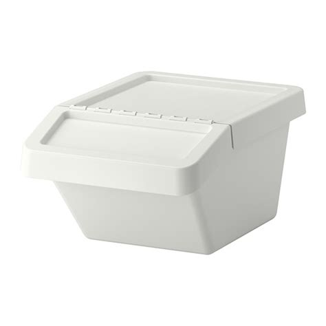 ikea plastic bins sortera recycling bin with lid 10 gallon ikea