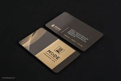 black and gold business card templates free black business cards