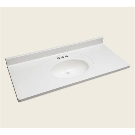Cultured Marble Vanity Tops With Sink by Shop Style Selections Vanity White Cultured Marble