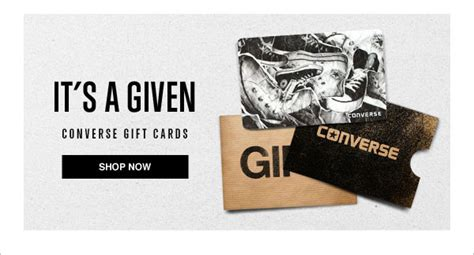 Converse Gift Card - converse chuck taylor shows its boot side milled