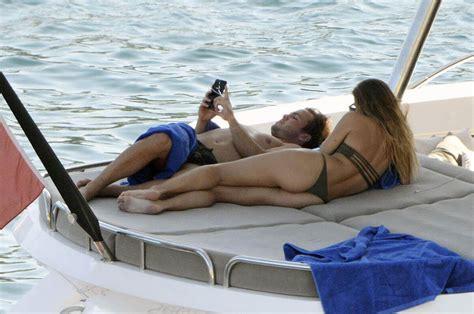 mario gotze boat mario gotze with ann kathrin brommel in bikini at a yacht