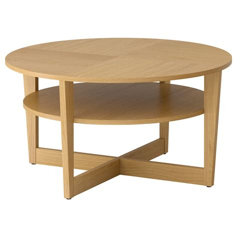 Side And Coffee Tables Vejmon Coffee Table Oak Veneer 90 Cm Ikea
