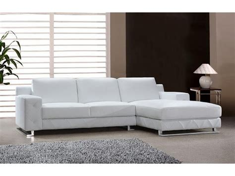 modern sectional sofa in white leather s3net sectional