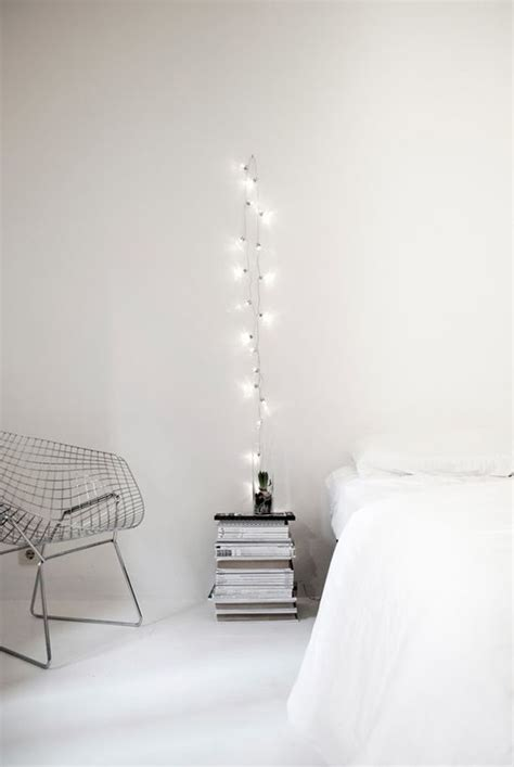 White Bedroom Light Diy Simple White Bedroom String Lights