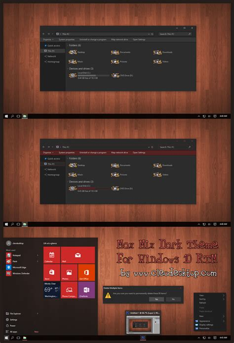 theme for windows 10 rtm max mix dark theme for windows 10 rtm by cleodesktop on